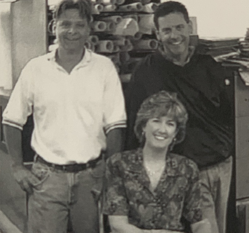The McSteen Land Surveyors family owned business team in 1999.