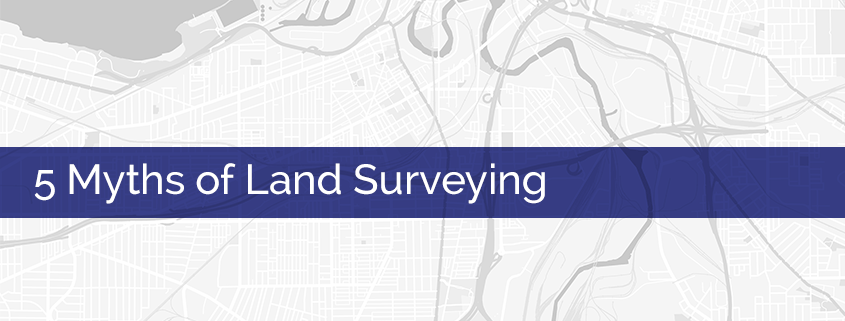 Land surveying myths title image.