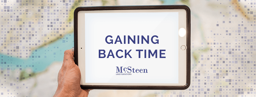An iPad with text that says Gaining Back Time.